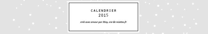 Calendrier 2015 à imprimer gratuitement