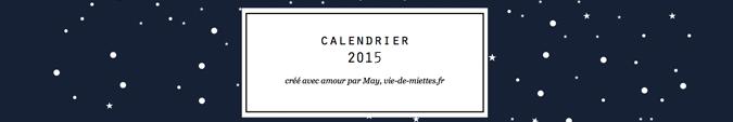 Calendrier 2015 à télécharger et imprimer