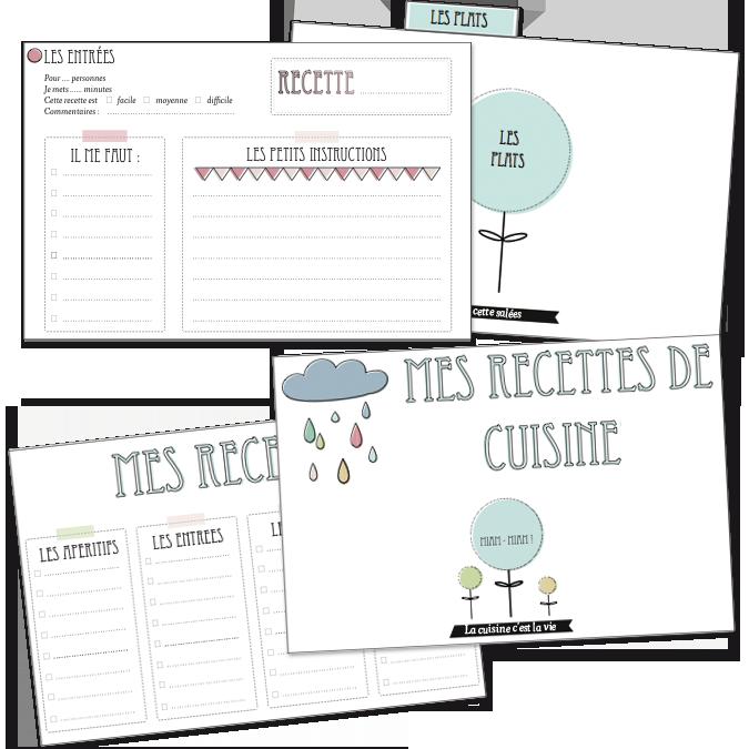 Bekannt Des cartes de recette de cuisine ! - Vie de Miettes CI59