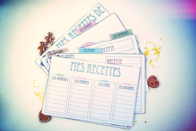 Des cartes de recette de cuisine vie de miettes - Livre de cuisine vierge ...