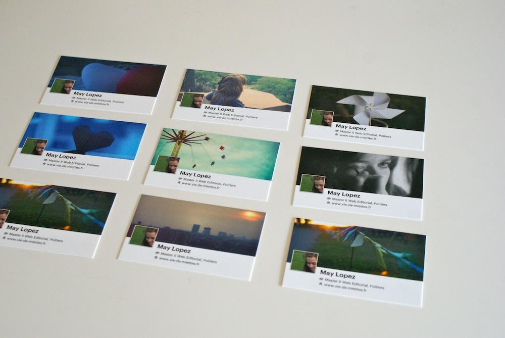 Les Jolies Cartes De Visite Offertes Faon Facebook Timeline