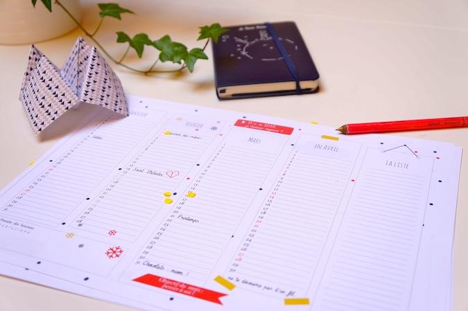 Le calendrier 2013