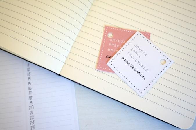 Les étiquettes d'anniversaire à imprimer