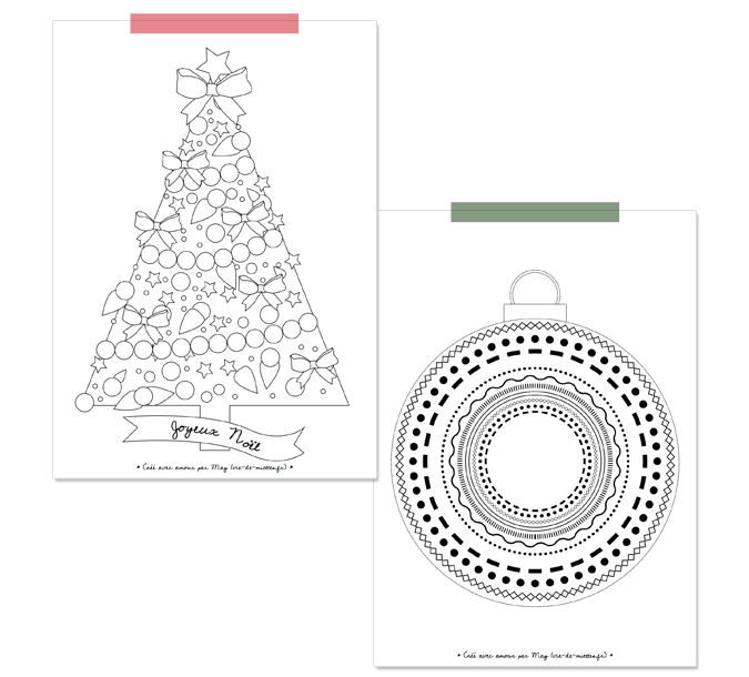 Les coloriages de Noël pour enfants