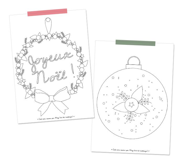 Les coloriages de Noël à imprimer