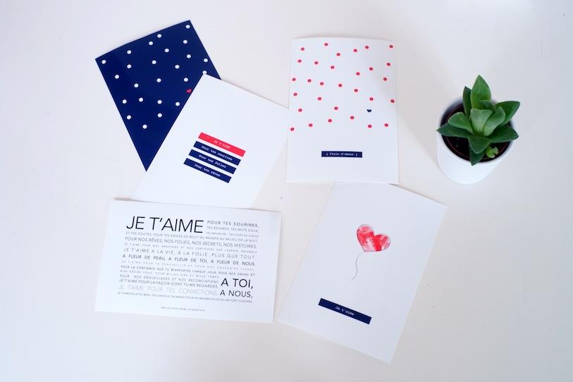 Carte à imprimer pour son amoureux