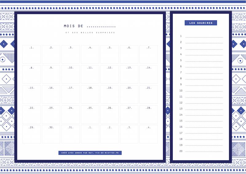 calendrier inspiration maroc