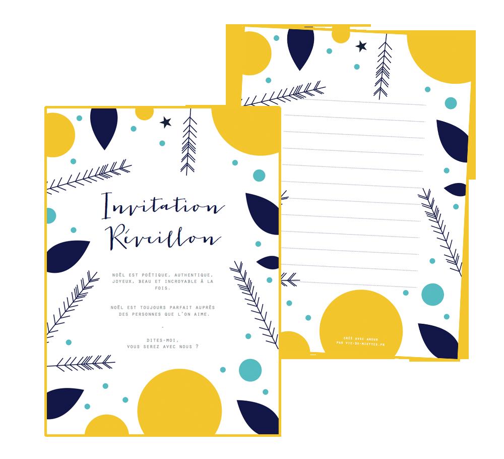Invitation de Noël à imprimer gratuitement