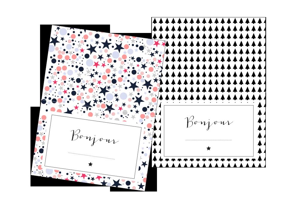 Les marques-places de Noël à imprimer