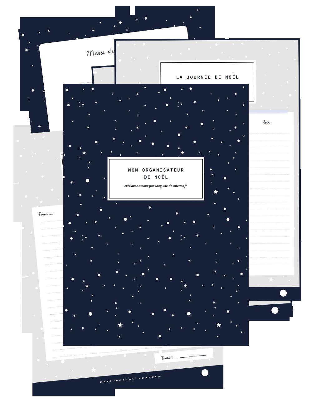 Un organisateur de Noël à imprimer gratuitement