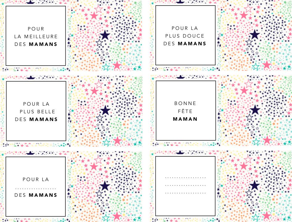 Etiquettes fête des mères à imprimer