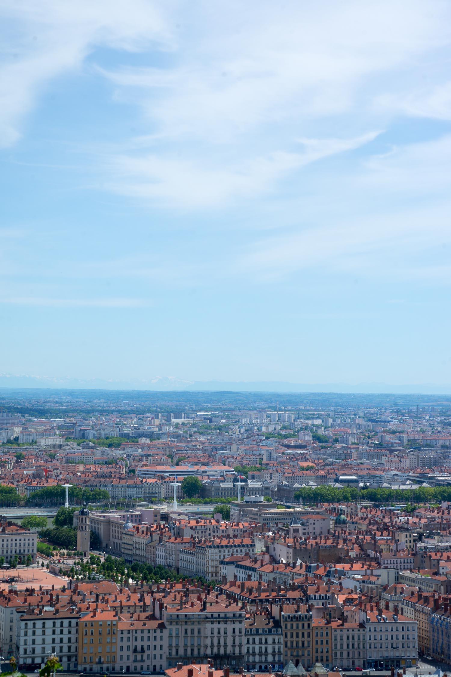 Vue romantique de Lyon