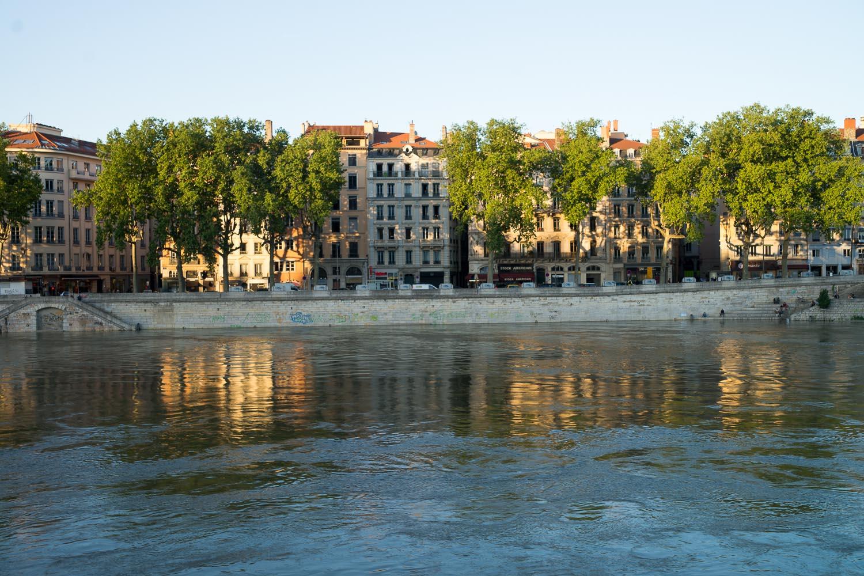 Lyon, quai romantique