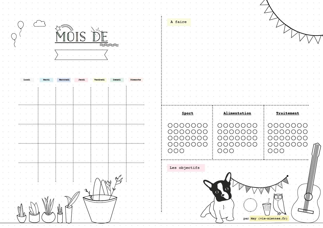 Bullet Journal Planning Mensuel Annuel Hebdomadaire Et Quotidien