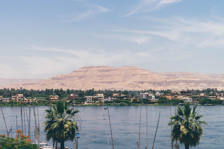 Vu depuis le white Palace à Luxor