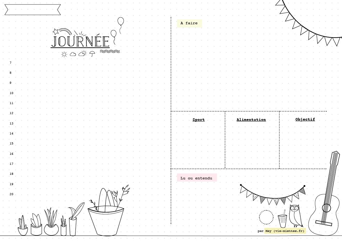 Häufig Bullet journal] Planning mensuel, annuel, hebdomadaire et  HK04