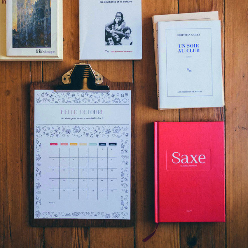 Agenda créatif à imprimer