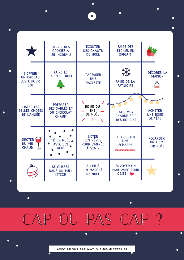 Bingo de Noël à imprimer gratuitement