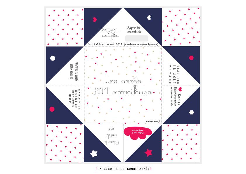Populaire Carte de voeux originales 2017 - Vie de Miettes KN13