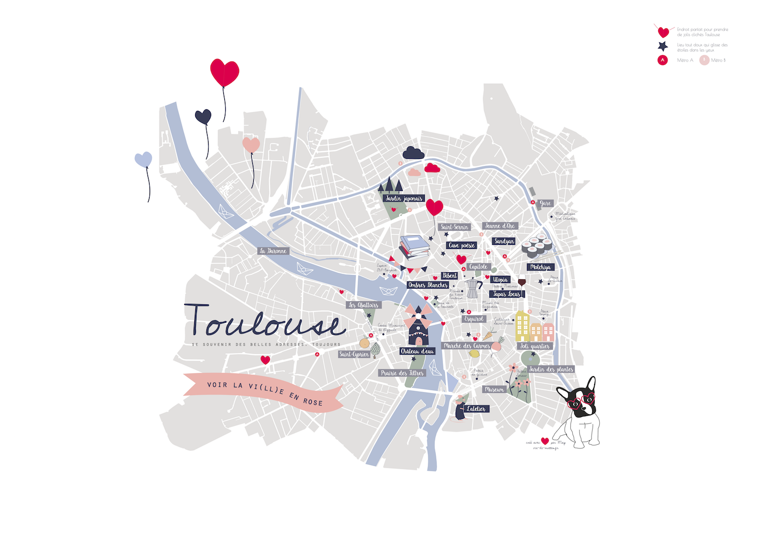 Plan de Toulouse illustré